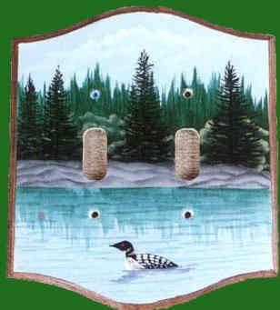 Handpainted Loon Switchplate