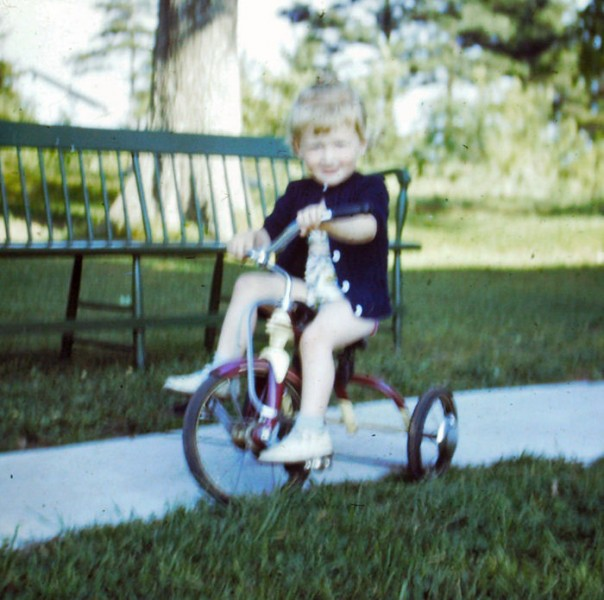 For my 4th birthday I got my own set of wheels