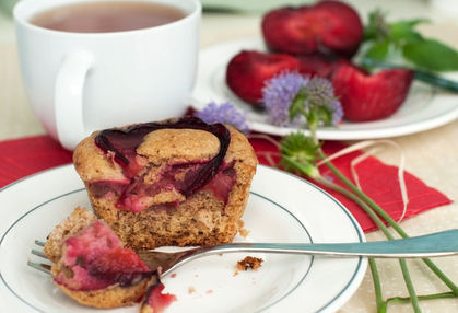 Fresh Plum Muffin, muffin recipe, how to make muffins