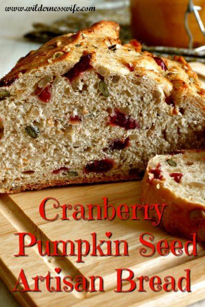 Artisan Cranberry Pumpkin Seed Bread Recipe