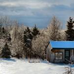 Katahdin Snow storm, ice storm, winter icy trees
