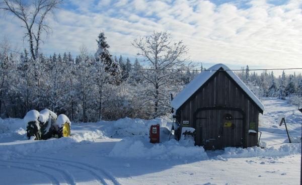 John Deere B Tractor, Maine, Maine snowstorm, winterin Maine