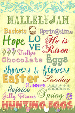 Free Easter Subway Art Printables form Making Messes