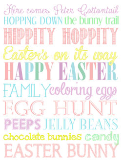 Free Printable Easter Subway Art form Nest For Less