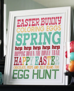 Free Easter Subway Art Printables from Eighteen25