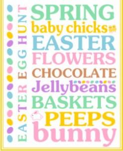 Easter-art, easter-subway-art,easter-printables