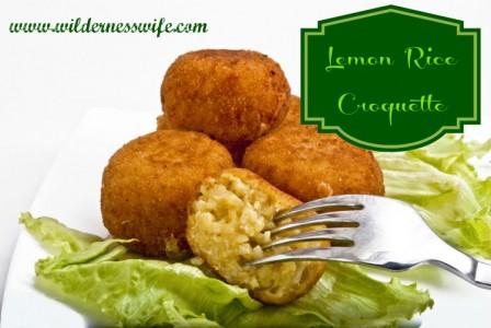 Lemon croquette, rice croquette, croquette recipe