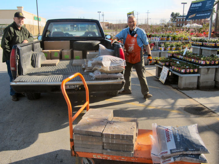 Home Depot Zipper Pathway, Home Depot Garden Club