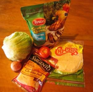 Chicken wrap sandwich, chicken wrap, Tyson chicken, Grill & Ready