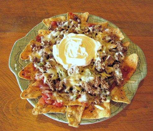 Nachos, microwave nachos,  Green Giant Veggie Snack Chips