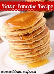 Basic fluffy pancake recipe