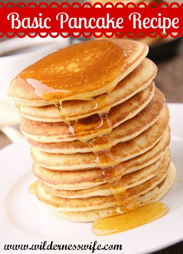 Basic pancake recipe fluffy and delicious the wilderness wife basic fluffy pancake recipe ccuart Gallery