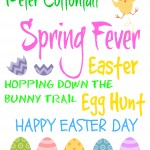free frameable Easter printables, Easter Subway Art