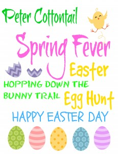 free frameable Easter printables, Easter Subway Art