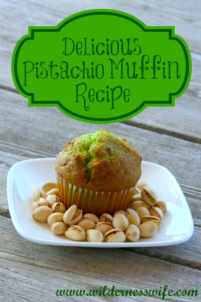 pistachio, pistachios, green muffin, muffin recipe, easy muffin recipe