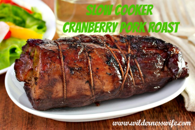 pork raost, slow cooker pork roast, cranberry pork roast, cranberry, cranberry glaze