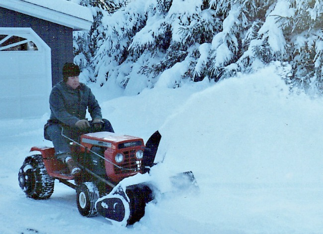 Dad never shirked his duty braving the icy cold of winter to plow the snow that built up in the driveway.  He taught us a strong work ethic and a sense of responsibility.