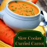 slow cooker curried carrot soup, carrot soup recipe, soup recipe, slow cooker soup recipe