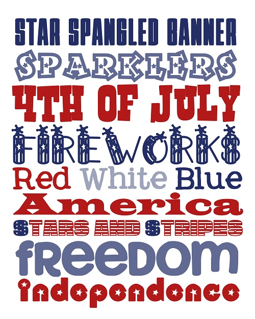 picture relating to Subway Art Printable identify 10 Cost-free 4th of July Subway Artwork Printables - The Wilderness Spouse