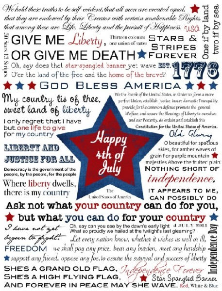 4th of July, free printables, free printable Subway Art, free holiday printables, free 4th of July decorations, Fourth of July printables, free 4th of July Subway art printables
