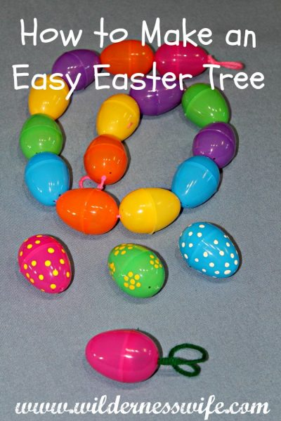 Make an easy easter egg tree the wilderness wife How to make an easter egg tree