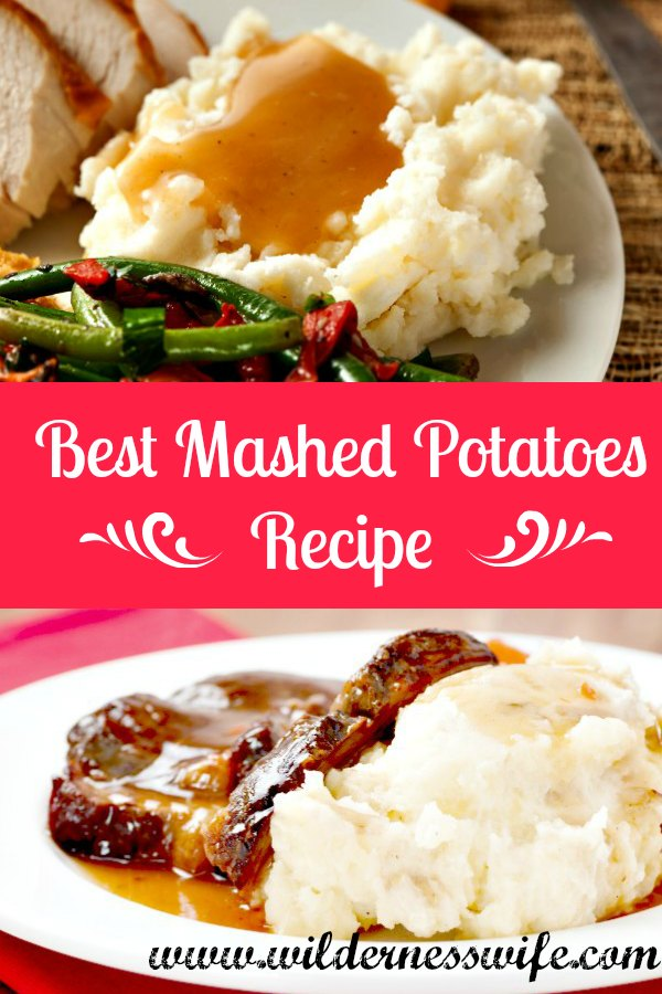 As my son says, mashed potatoes are the best delivery sytem for gravy!