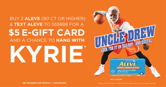 Aleve sweepstakes with Kyrie