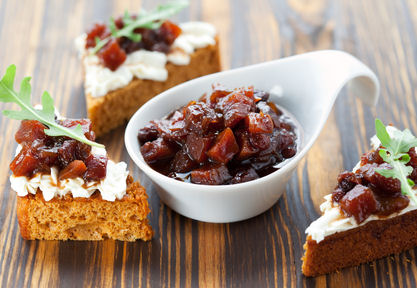 Thanksgiving pumpkin cranberry chutney condiment