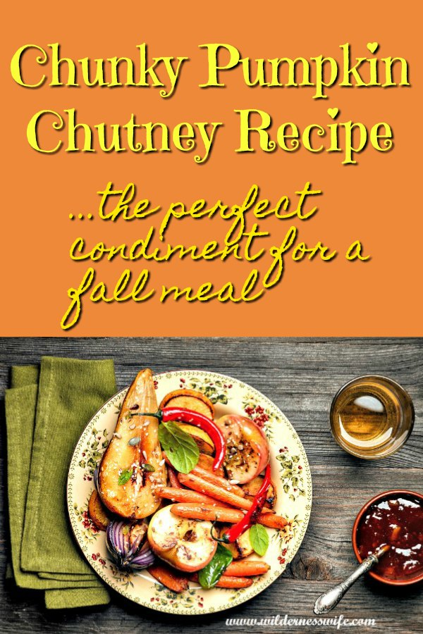 Pumpkin Chutney being served as the condiment with a plate of fall roasted vegetables for a perfect vegan meal