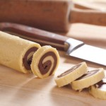 Chocolate vanilla Pinwheel cookies, santa Claus cookies, christmas cookies