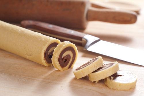 Chocolate vanilla Pinwheel cookie recipe, santa Claus cookies, christmas cookies