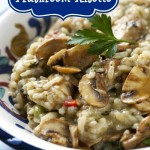 mushroom risotto, risotto, slow cooker recipe