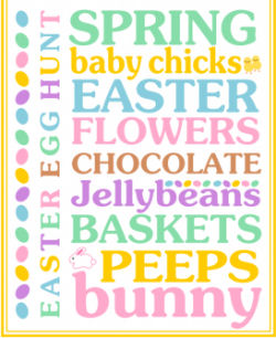 Easter-art, easter-subway-art,easter-printables