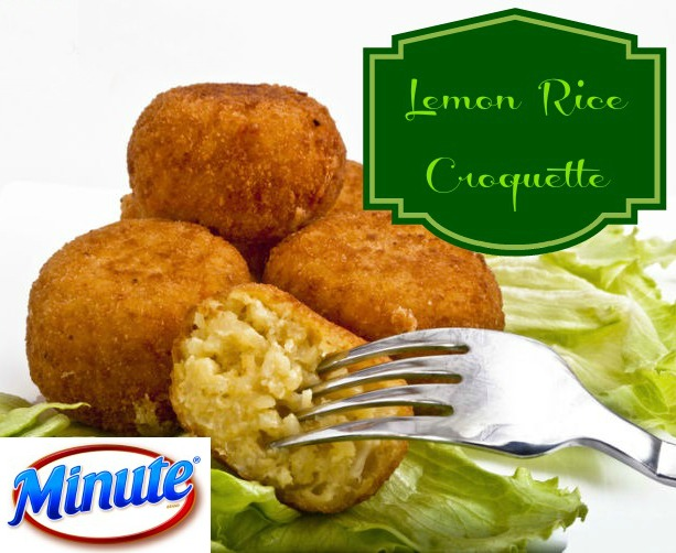 Minute-rice-ready-to-serve recipe, rice recipe, croquette, lemon