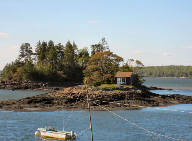 Tiny cottage at Ripley Point, Maine