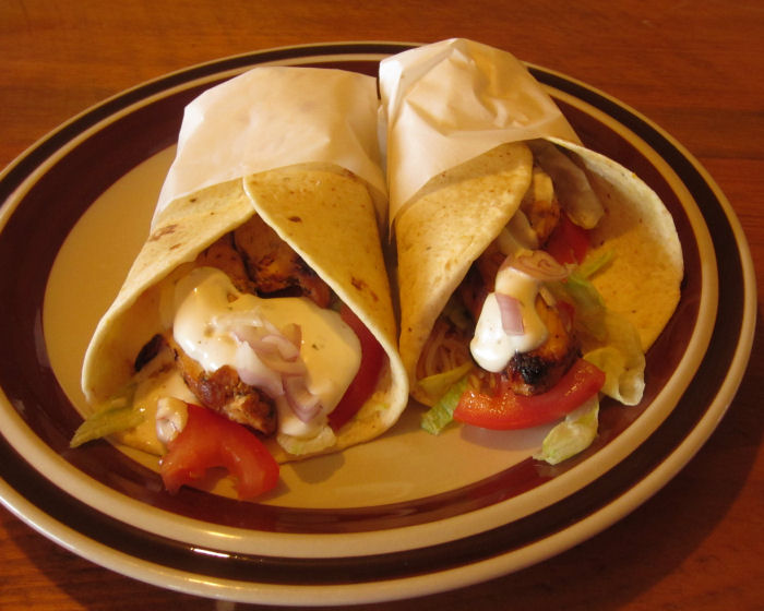 Delicious ranch chicken wraps that are delicious and also help support your local school.