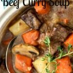 beef soup, beef curry, slow cooker recipe, soup recipe