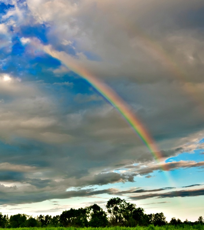 After the storm, a beautiful rainbow and even if the power is still out, it gives you something to smile about!