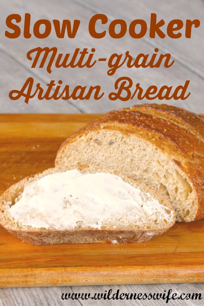 This slow cooker bread recipe is tasty and provides anicely textured whole grain bread.