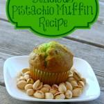 pistachio, pistachios, green muffin, muffin recipe, easy muffin recipe