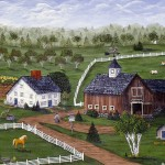 New England, farm, Maine, barn, Grammy Mouse, folk art, folk artist