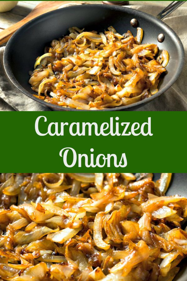 Caramelized onions in saute pan