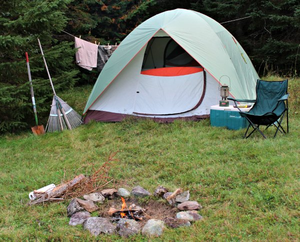 North Maine Woods Campsite for wilderness camping at its best